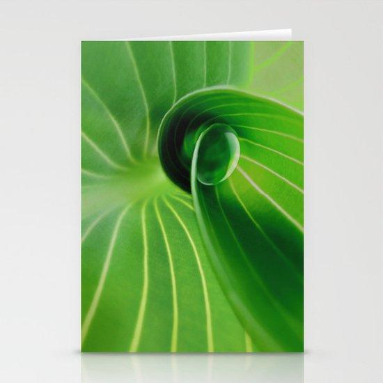 Leaf / Hosta with Drop (2) Stationery Cards