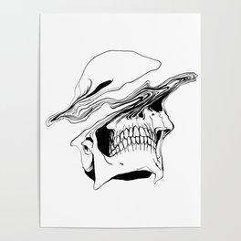 Skull (Liquify) Poster