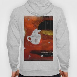 cup of coffee on acousic guitar - color Hoody