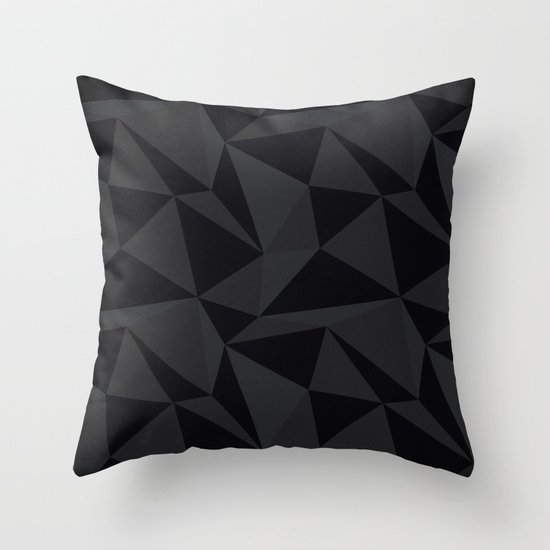 Triangular Black Throw Pillow