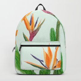 bird of paradise flower painting Backpack