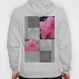 Gray Burlap and Damask with Pink Azaleas - Modern Farmhouse Hoody