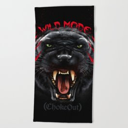 Wild Mode. Bjj, Mma, grappling Beach Towel