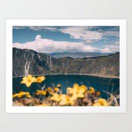Quilotoa Lagoon Ecuador Art Print