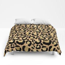 Animal print - natural gold Comforters