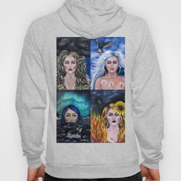 The elements: Earth, Air, Fire, Water Hoody