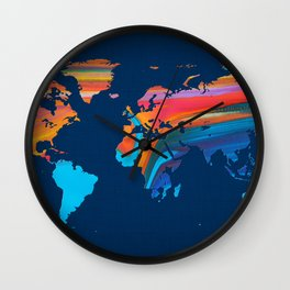 World Map 18 Wall Clock