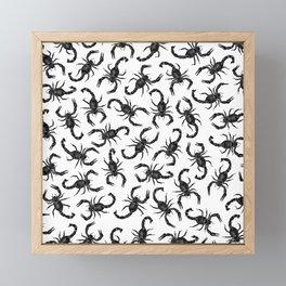 Scorpion Swarm Framed Mini Art Print