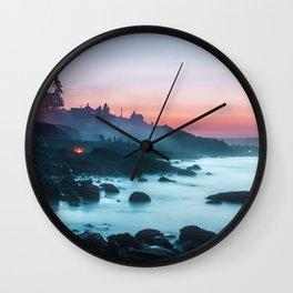 Light Sunrise Long Exposure Shoreline (Color) Wall Clock