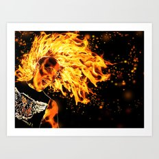 I am the Fire Starter. Art Print