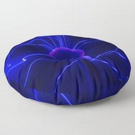 Blue Lightnings Floor Pillow
