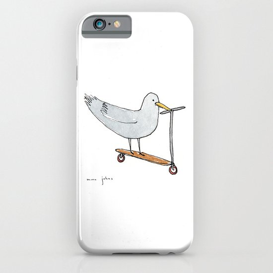 bird on a scooter iPhone & iPod Case