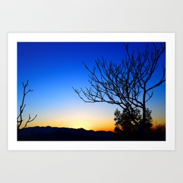 View From The Top (of The Great Wall of China) Art Print