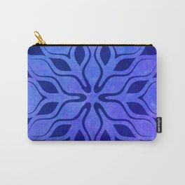 Blue Snowflake Carry-All Pouch
