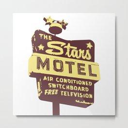 Seeing Stars ... Motel ... (Brown/Yellow Sign) Metal Print