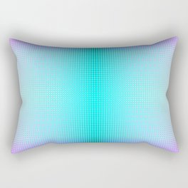 Purple Blue Black Ombre Hexagons Bi-lobe Contact binary Rectangular Pillow