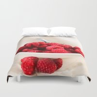 breakfast club Duvet Covers featuring Breakfast by Donna M Condida