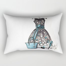 Dots and Shoes Fashion Watercolor Rectangular Pillow