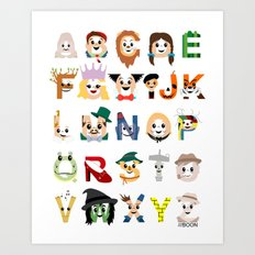 Oz-abet (an Oz Alphabet) Art Print