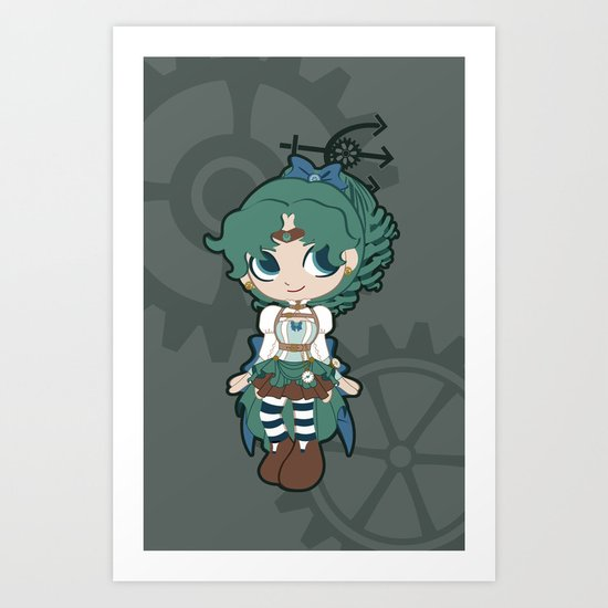 Steampunk Sailor Neptune - Sailor Moon Art Print