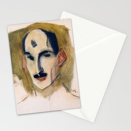 The Fencer - Helene Sofia Schjerfbeck Stationery Cards
