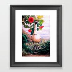 Granny's Goose  painting Framed Art Print