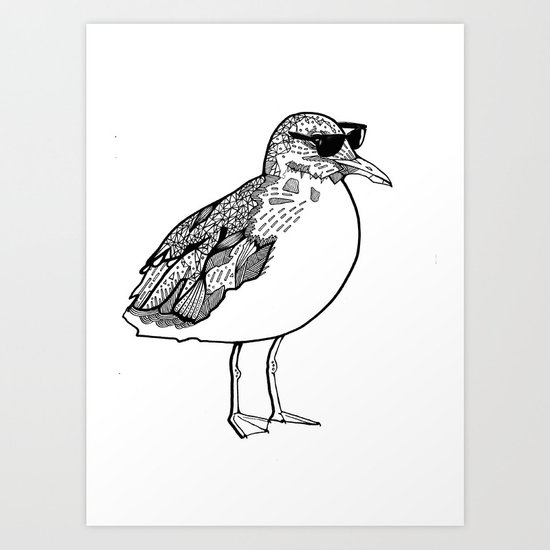 cool Seagull Art Print
