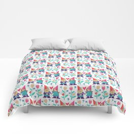Gnome Love Pattern Comforters