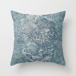 Fifth Mix Blue Throw Pillow