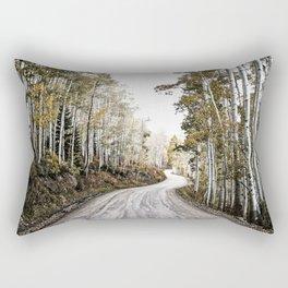 A Winding Autumn Road Rectangular Pillow