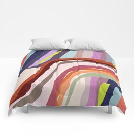 Id, Ego and Superego abstract and colorful Comforters