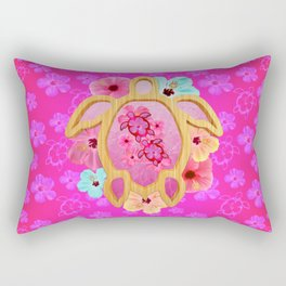 Hawaiian Pink Turtle Rectangular Pillow