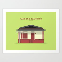 Kampong Buangkok, Singapore [Building Singapore] Art Print