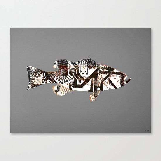 Digital Fish 2 Canvas Print