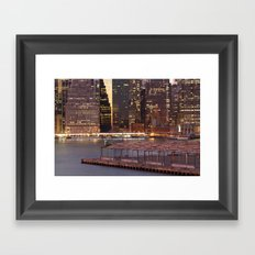a city never sleeps Framed Art Print