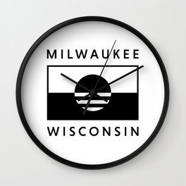 Milwaukee Wisconsin - White - People's Flag of Milwaukee Wall Clock