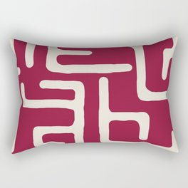 Kuba in oxblood Rectangular Pillow