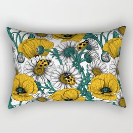 The meadow in yellow Rectangular Pillow