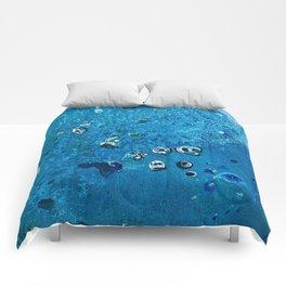 Deep Sea Creatures Dream of Blue Comforters