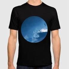 float with the tide Mens Fitted Tee Black MEDIUM