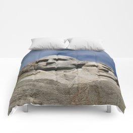 George Washington And Thomas Jefferson  - Mount Rushmore Comforters