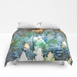 Mosaic Forest Comforters