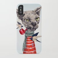 sphynx iPhone & iPod Cases featuring Sphynx cat by dogooder