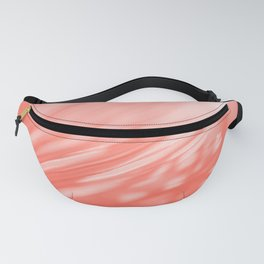 Pastel Living Coral Palm Tree Leaves Sunlight Orange Peach Tropical Floral Pattern Fanny Pack