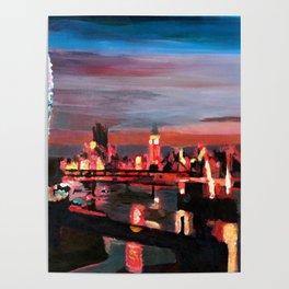 London Eye Night Poster