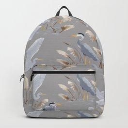 Great Blue Heron - Gray Backpack
