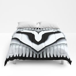 Black and White heart symphonie Comforters