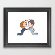 Space Nerds in Love Framed Art Print