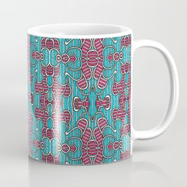 Psychedelic Mind Bending Pink and Blue Pattern Coffee Mug