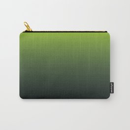 Ombre   Lime Green and Charcoal Grey Carry-All Pouch
